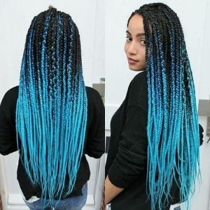 Ombre-Turquoise-Box-Braids-hair braiding tips