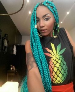 Box Braid Color Tips Hair Braiding Styles Explore