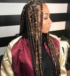 box-braids-with-color-hair braiding tips