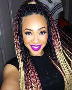 Pink-And-Blonde-Ombre-Box-Braids-hair braiding tips