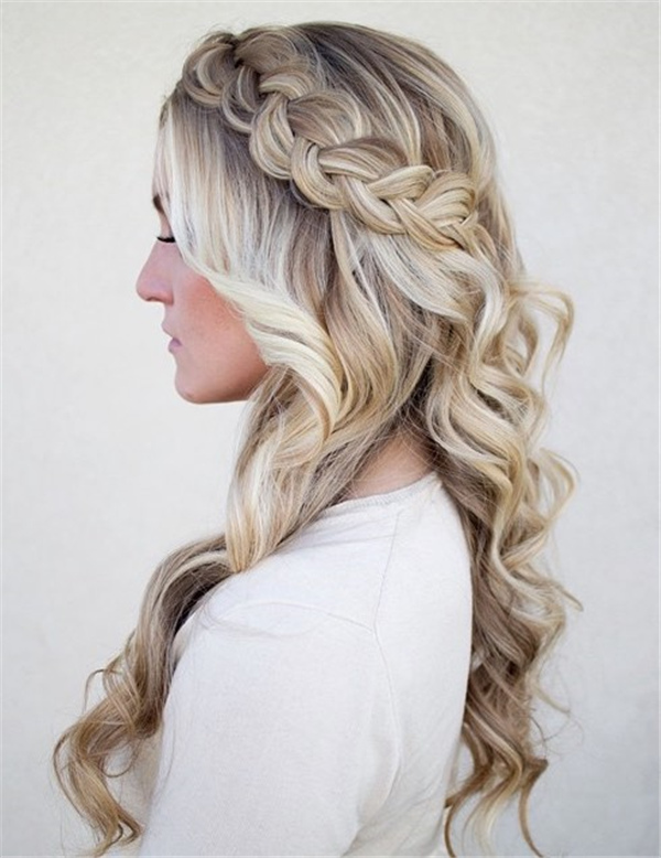 10 gorgeous half up half down wedding hairstyles hair braiding ombre half up half down junglespirit Image collections