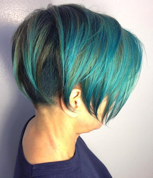 Top 5 Colorful Bob Haircuts Shaved In Back Hair Braiding Styles