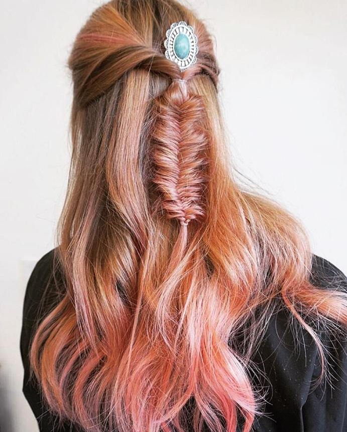 45 Charming Bride S Wedding Hairstyles For Naturally Curly: 10 Charming Rose Gold Balayage Hairstyles